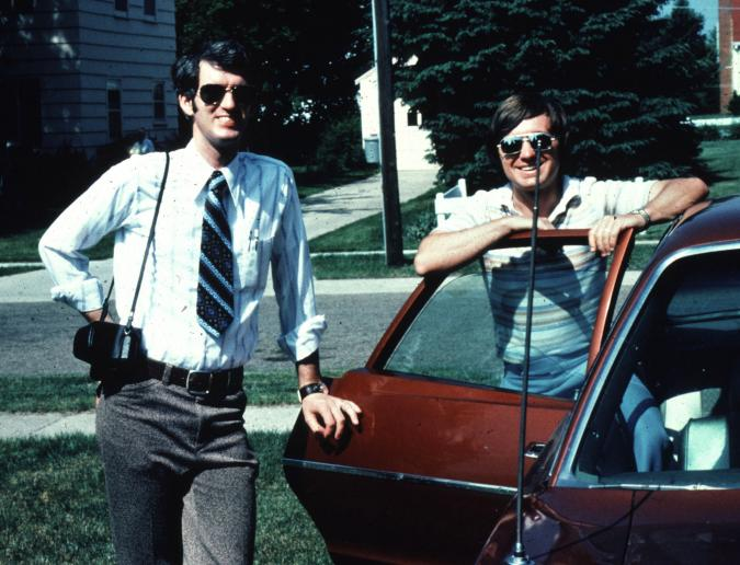 Donald Lewis (left) and Jerry DeWitt in summer of 1977.