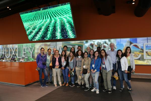 Group picture of the University of Costa Rica students in ISU building