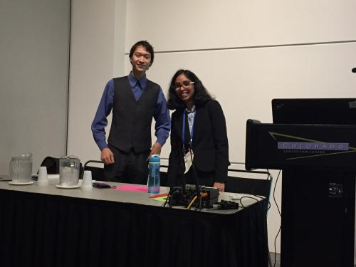 Nirianjana Krishnan and Colin Wong moderating a technical session