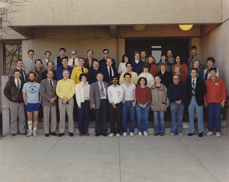 Photograph of the 1986 Department of Entomology