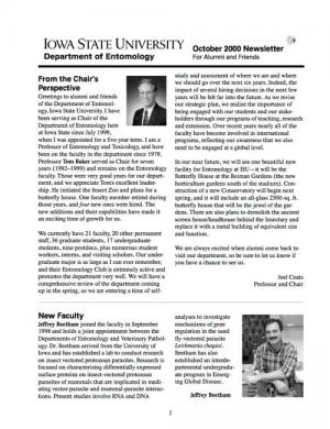 Department of Entomology Newsletter 2000