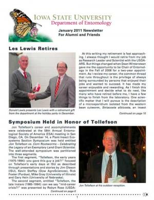 Department of Entomology Newsletter 2011