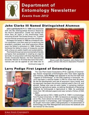 Department of Entomology Newsletter 2013