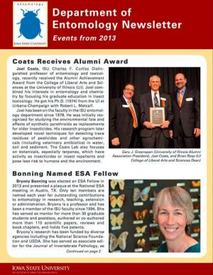 Department of Entomology Newsletter 2014