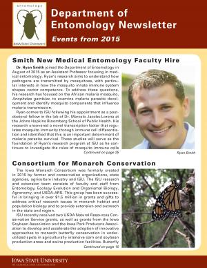 Department of Entomology Alumni News 2016