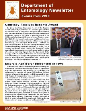 Department of Entomology Alumni News 2017