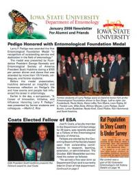Department of Entomology Newsletter 2008