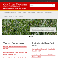 Horticulture and Home Pest News