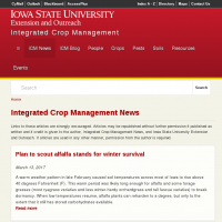 Crop News - Integrated Crop Management (ICM) Newsletter