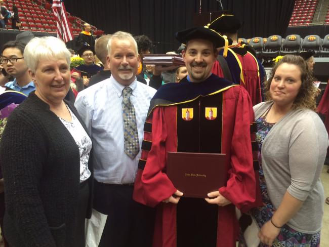 Vic Albright and family at Vic's graduation ceremony