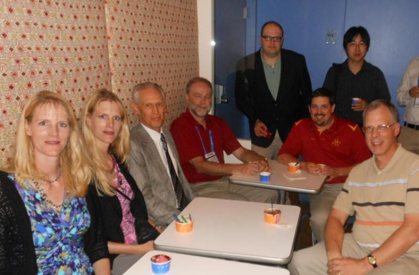 Photograph of Coats Lab alumni at the 2012 ACS national meeting in Philadelphia, PA